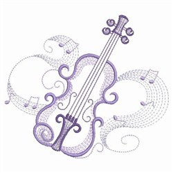 Music Notes 3 embroidery design