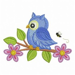 Owl Be There embroidery design