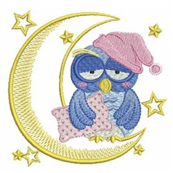 Good Night embroidery design