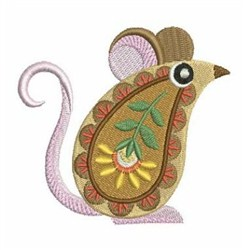 Paisley Animals embroidery design