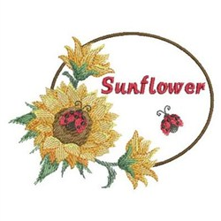 Watercolor Sunflowers embroidery design