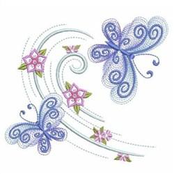 Petals In Flight embroidery design