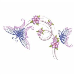 Petals In Flight embroidery design