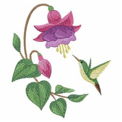 Fuchsia 2 embroidery design