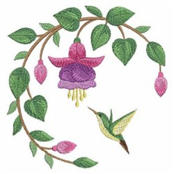 Fuchsia 2 embroidery design
