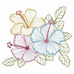 Vintage Hibiscus 2 embroidery design