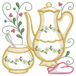 Tea Time Blocks embroidery design