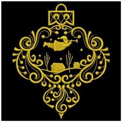 Golden Christmas embroidery design