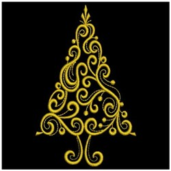 Golden Christmas embroidery design