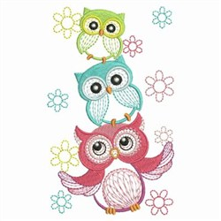 Cute Owls 2 embroidery design