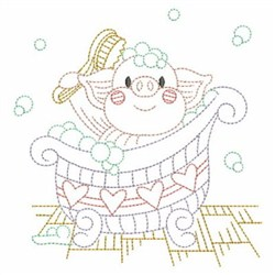 Vintage Bathing Cuties embroidery design