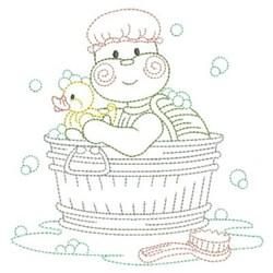 Vintage Bathing Cuties embroidery design