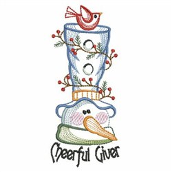 Vintage Snowman Outline embroidery design