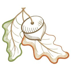 Autumn Oak embroidery design