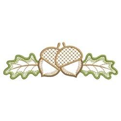 Autumn Oak Border embroidery design