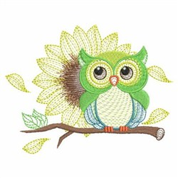 Spring Owl embroidery design