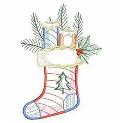 Vintage Christmas Stocking embroidery design