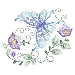 Rippled  Butterflies embroidery design