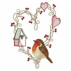 Christmas Robin embroidery design