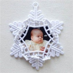 FSL Snowflake Photo embroidery design