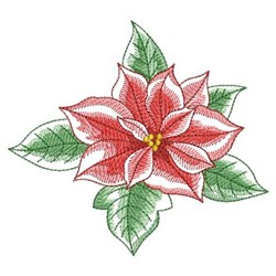 Elegant Rippled Poinsettia embroidery design