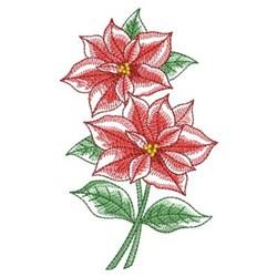 Elegant Rippled Poinsettia embroidery design