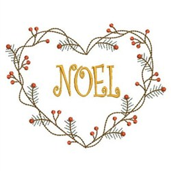 Vintage Christmas Heart embroidery design