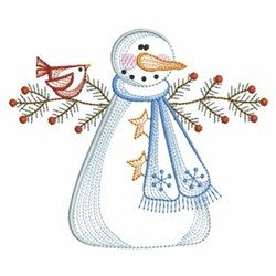 Vintage Snowman embroidery design