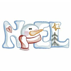 Vintage Snowman embroidery design