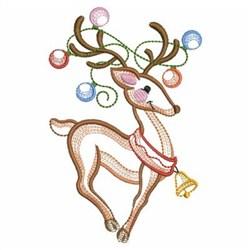 Vintage Christmas Reindeer embroidery design