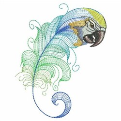 Textured Parrot Feather embroidery design