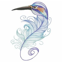 Textured Crane Feather embroidery design