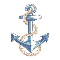 Sketched Nautical Anchor embroidery design