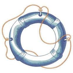 Sketched Nautical Preserver embroidery design