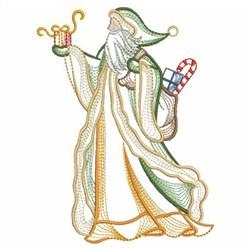 Vintage Christmas Santa embroidery design