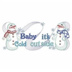 Winter Snowmen embroidery design