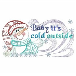 Winter Snowman embroidery design