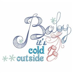 Winter Saying embroidery design