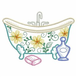 Bath scene embroidery design pack by ace points foods for Bathroom embroidery designs