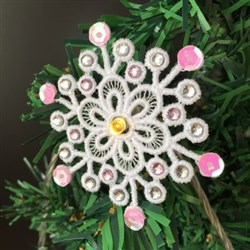 FSL Crystal Sequin Snowflake Lights embroidery design