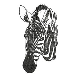 Zebra Head Outline Zebra Head Outline Emb...