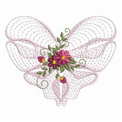 Rippled Heart embroidery design