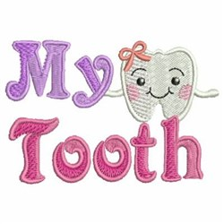 tooth machine embroidery design
