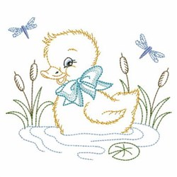 Vintage Baby Duck Embroidery Designs Machine Embroidery