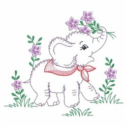Vintage Baby Elephant Embroidery Designs Machine