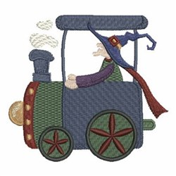 Halloween Train Witch Embroidery Designs Machine