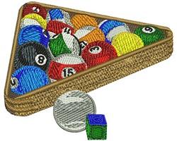 Pool Balls & Rack embroidery design