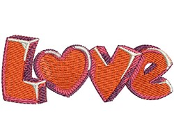 Love Gel Hearts embroidery design