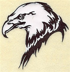 Eagle Head Applique embroidery design