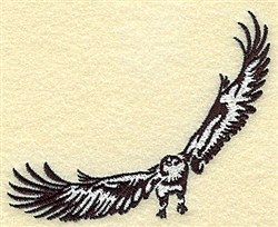 Soaring Eagle embroidery design